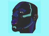 Neon face