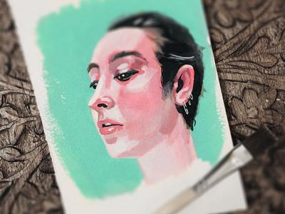 Gouache Portrait