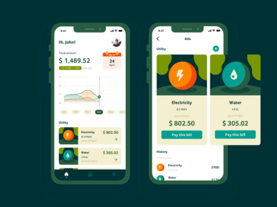 Track and pay utility bills