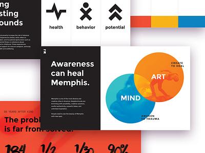 Grounded Media Kit nonprofit media kit infographics infographic design infographic design sprint deck design deck branding brand identity brand designer brand design brand