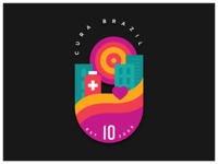 CURA Brazil 10th Anniversary Badge