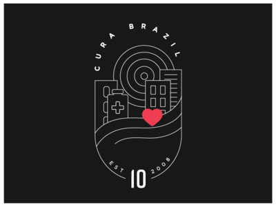 Cura Brazil 10th Anniversary Badge Outline