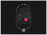 Cura Brazil 10th Anniversary Badge Outline