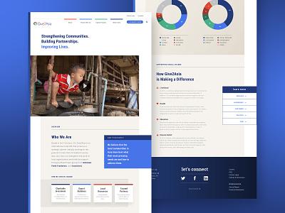 Web Design / Give2Asia wordpress design web design illustration web design