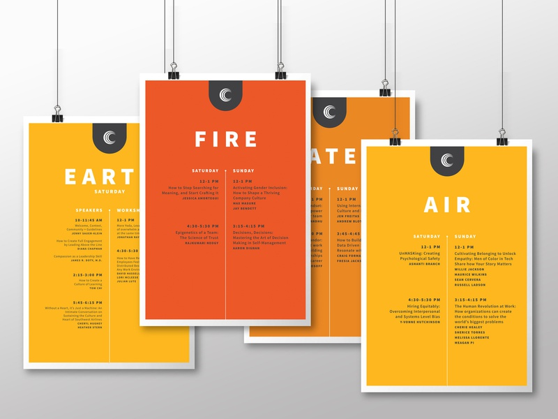 The Culture Conference | Schedule Posters print posters event branding orange conferences event design events print design design poster design poster