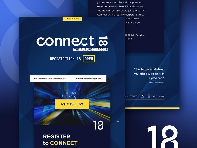 Connect18 Email newsletter design newsletter event design events email blast conference design conferences layout design photoshop branding email campaign email graphic  design email design