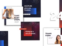 Social Tile templates for 24Hour Fitness / 24Life