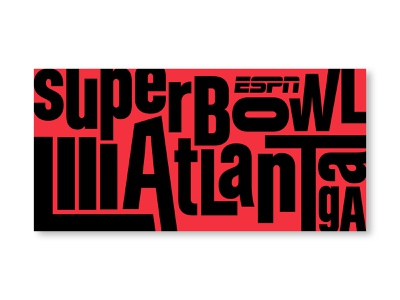 Superbowl LIII / Graffiti Wall superbowl football graphic design signage scenic design environmental design print design event branding event design sports