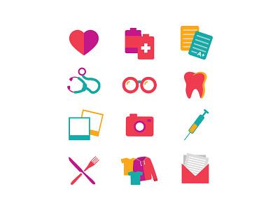 Icons for CURA Brazil non-profit non profit vector illustrator illustration branding graphic  design icon design icon