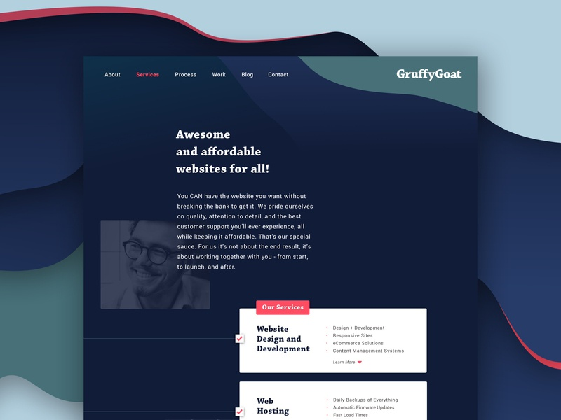GruffyGoat Website | Services Page