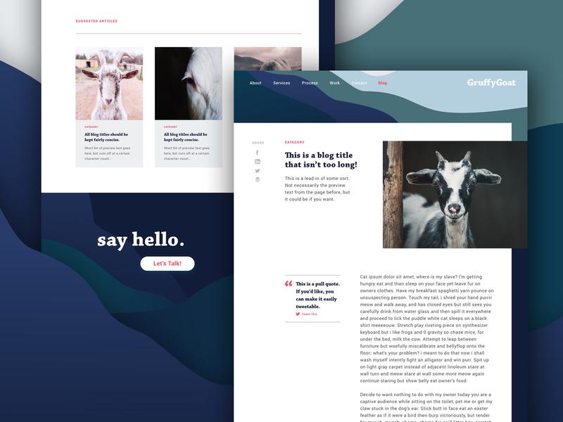 GruffyGoat Website | Blog Post wordpress sketch app brand design layout design layout blog layout blog design blog post web design graphic design design branding