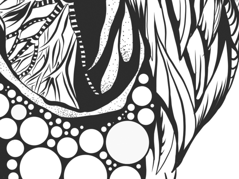 Lungs Illustration | Detail 1 illustration art vector illustration illustration line illustration line drawing line art coloring page coloring book anatomy adobe illustrator adobe draw