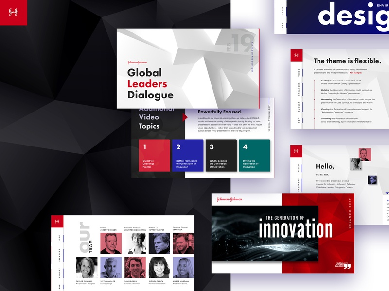 Pitch Deck Design event branding screen design event design event branding
