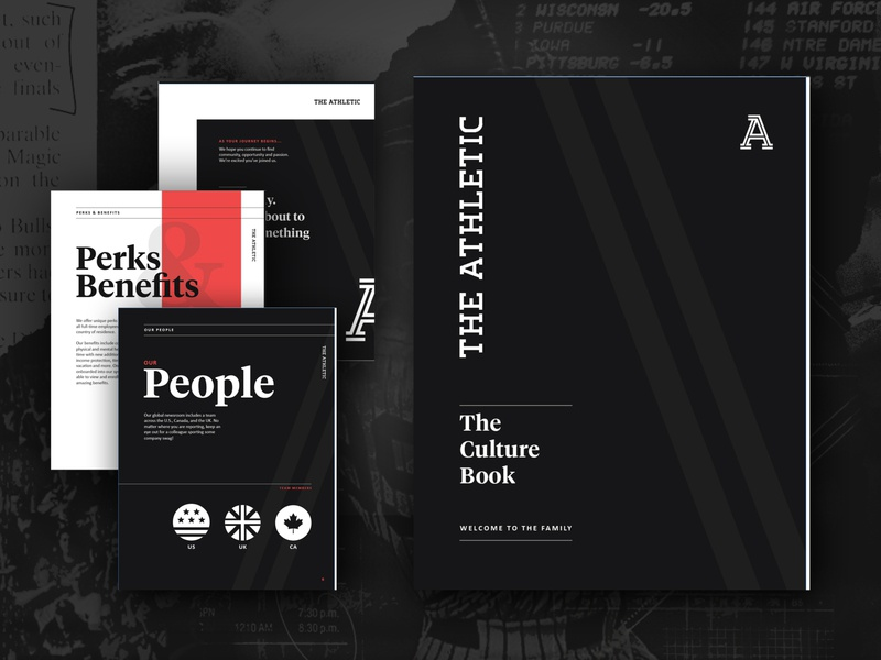Culture Book for The Athletic digital design onboarding handbook culture sports design sports graphic design ebook design branding branding design