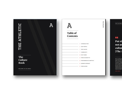 Culture Book for The Athletic digital design onboarding handbook culture sports design sports graphic design ebook design branding branding design