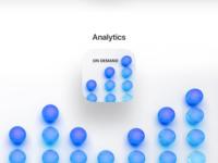 3D Logo for iOS - Analytics on Demand (Data 2 Performance) trend 3d trend uiux ui app ios app design icon cinema4d 3d artist 3d art 3d ios app ios