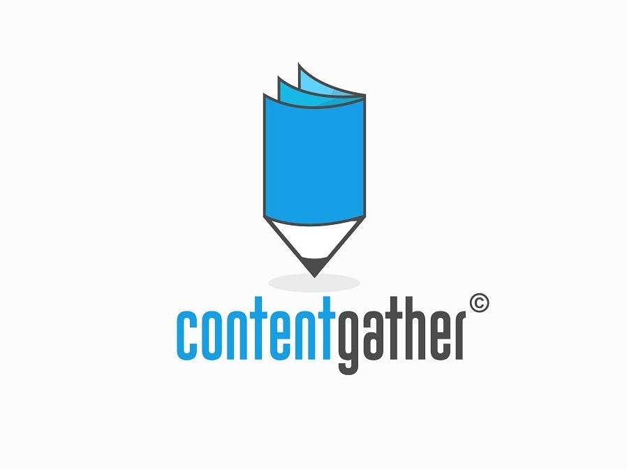 Content Gather logo design illustration branding logo