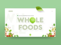 Whole Foods Landing Page UI concept