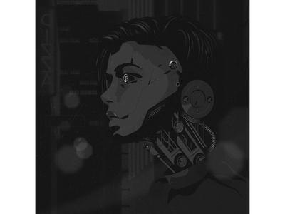 Bi vector illustration dark adobe illustrator city bionic noise flat illustration art grain vector illustrationart illustrator illustration