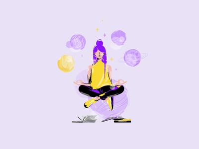 Eclipse_04 web ui design uidesign ui space planet star vector illustration art illustrator illustrationart illustration flat design draw colorful astrology art app design app