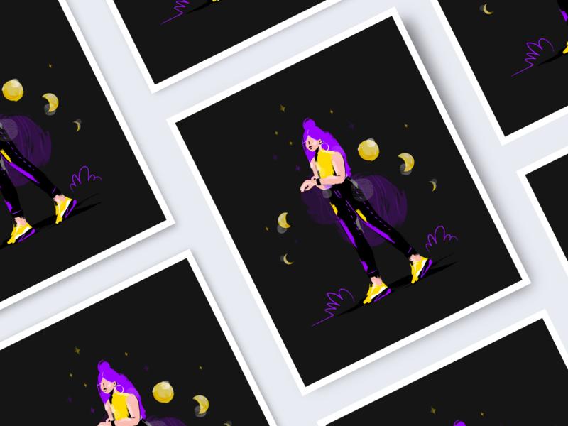 Eclipse_06 time web vector ui design ui planet stars space illustration art illustrationart illustrator illustration flat draw design colorful astrology art app design app