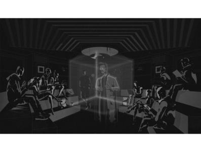 Простор_2 school students teacher hologram lecture noise grey illustration art grain vector illustrationart illustrator illustration