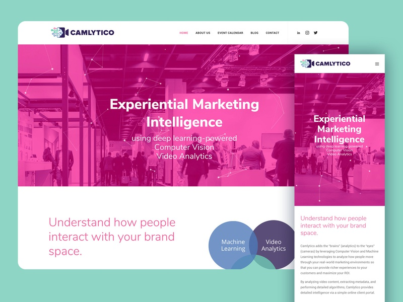 Camlytico Website responsive website design responsive design website design wordpress branding