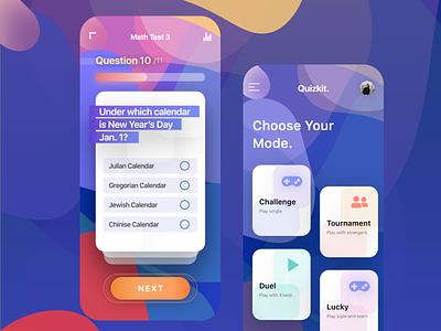 Quiz App UI mobile app design mobile mobile design mobile app mobile ui ui design game ui question uidesign ui quiz app quiz game quiz