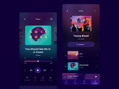 Player UI mobile ui modern player mobile player ui music player music app music