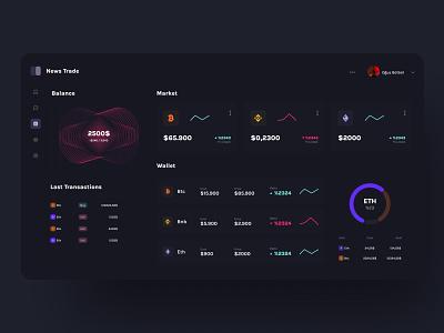 Crypto Dashboard ui web ui design ui design cryptocurrency crypto wallet web dashboard dashboard crypto