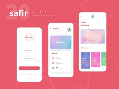 Safir Meditation UI Kit