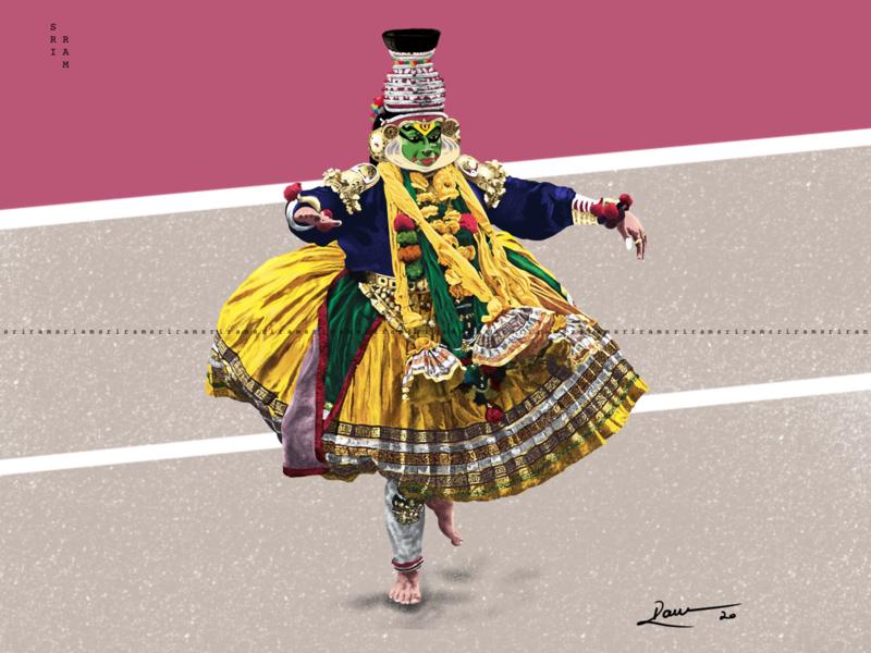 My illustration of Kathakali dance ipadpro kathakalidance kathakali kerala procreate colorful artistic creative digitaldrawing digital illustration digital art digital painting satisfying contemporaryart illustrator illustrate artist inspiration digitalart drawing