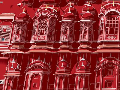 My illustration about Hawa Mahal inspiration colorful satisfying contemporaryart sketch landscape ipadpro creative digitalart artist vector design drawing illustration incredibleindia india jaipur procreate