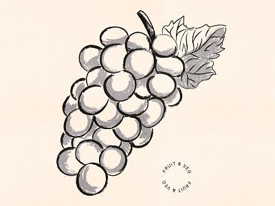 Grapes texture illustration food leaves vine supermarket drawing fruit illustration market vegetables fruit wine grapes