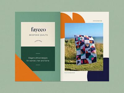 Bespoke quilt branding book buisnesslogo buisness card layout typography shapes print design label quilt branding design graphic