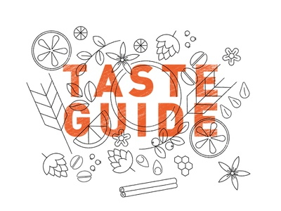 Craft Beer taste guide illustrations fruit ale pale ale barely hops sour flavours ipa beer craft beer