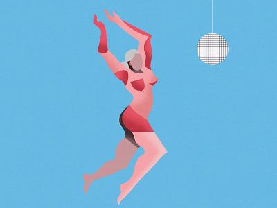 Dancer 01 digital art figuredrawing illlustration lady grain form block shape nude figure woman dancer disco ballet abstract