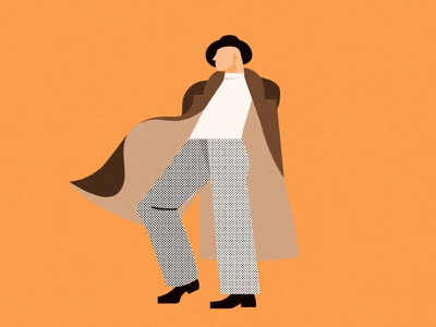 Got them moves detective person people drawing fashion character style matchbox vintage man coat dance illustration