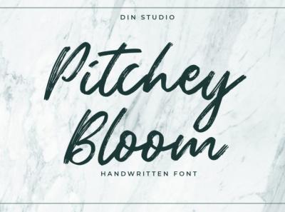 Pitchey Bloom - Handwritten font handwrittenfont design signature font script font handlettering lettering fonts font logo type typography branding