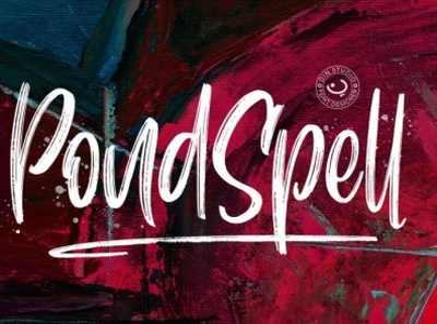 Pondspell - Handwritten brush font brush brush font script font handlettering lettering font fonts logo type typography branding