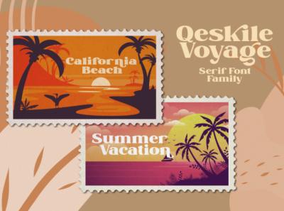 Qeskile Voyage - Modern serif font illustration icon vector logo design font fonts logo type typography branding