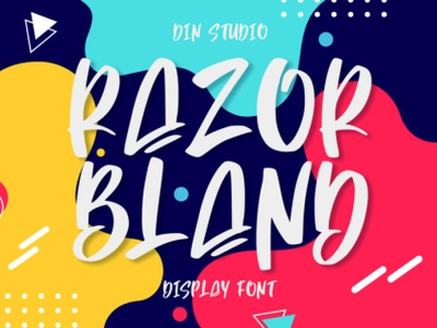 Razor Bland - Unique display font ilustration icon logo design handlettering font fonts logo type typography branding handwrittenfont display font