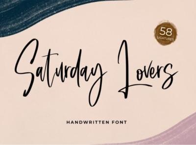 Saturday lovers - Handwritten font handwriting handwritten script signature font script font lettering handlettering font fonts logo type typography branding