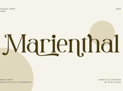 Marienthal - Clean serif font ui illustration icon logo design fonts logo type typography branding