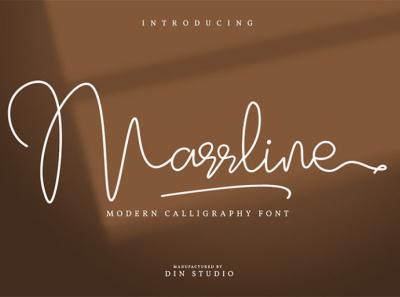 Marrline - Handwritten natural font script signature natural handwritten signature font script font lettering handlettering font fonts logo type typography branding
