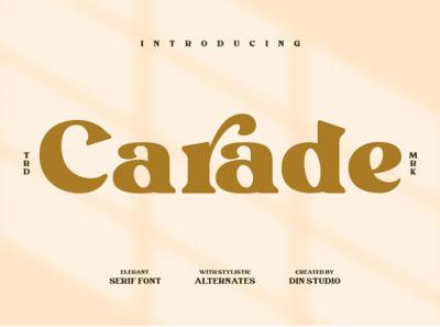 Carade - Elegant serif font elegant serif icon logo design font fonts logo type typography branding