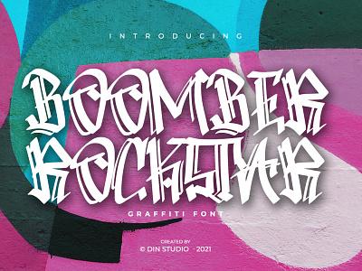 BOOMBER ROCKSTAR - Modern Graffiti font modern graffiti font graffiti logo design typography font handlettering lettering logo type fonts branding