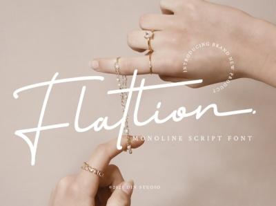Flatlion - Handwritten font illustration logo lettering handlettering font logo type fonts branding