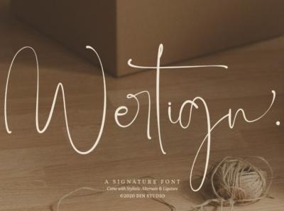 Wertign - Signature font