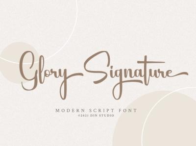 Glory Signature - Modern Script Font